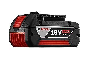 Bosch BAT620 18-Volt Lithium-Ion 4.0Ah Battery with Digital Fuel Gauge (Color: Black, Tamaño: Single Pack)