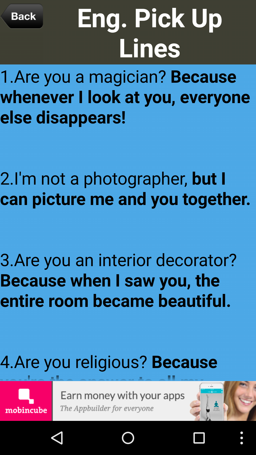pinoy pick up lines funny jokes appstore for android. Black Bedroom Furniture Sets. Home Design Ideas