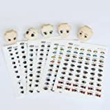 mofa 19 styles Water stickers Eyes Water Stickers For Doll Clay Craft Makingndle Moulds,Fondant, Polymer Clay, Soap Making,Crafting Projects (19 Pcs Eyes Water Sticker) (Color: Eyes Water Sticker)