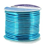 Mandala Crafts Anodized Aluminum Wire for Sculpting, Armature, Jewelry Making, Gem Metal Wrap, Garden, Colored and Soft, 1 Roll(12 Gauge, Turquoise) (Color: Turquoise, Tamaño: 12 Gauge)