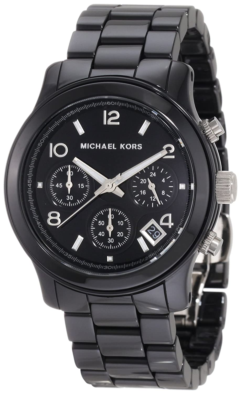 Amazon com Michael Kors  Michael Kors Watches Black Ceramic