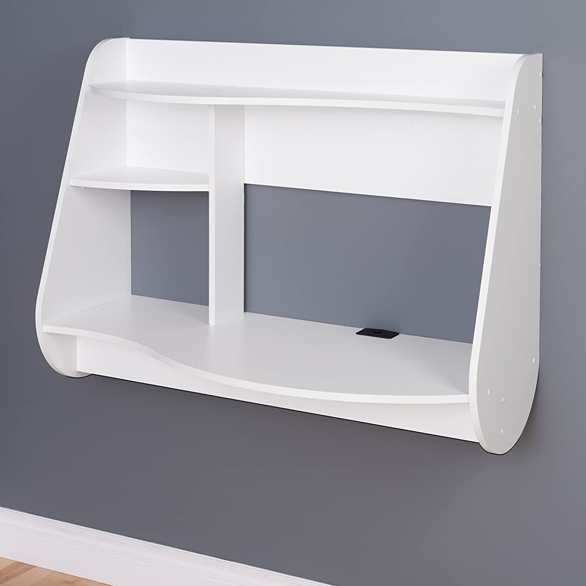Prepac Kurv Floating Desk, White