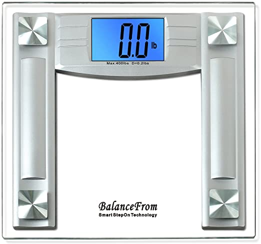 BalanceFrom High Accuracy Digital Bathroom Scale with 4.3