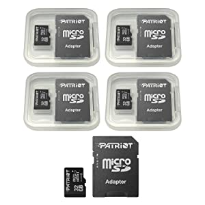 Patriot LX Series 32GB Micro SDHC - Class 10 UHS-I - 5 Pack (PSF32GMCSDHC5PK) (Tamaño: 32GB 5 Pack)
