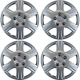 OxGord Hub-caps for 92-16 Toyota Corolla (Pack of 4) Wheel Covers 15 inch Snap On Silver