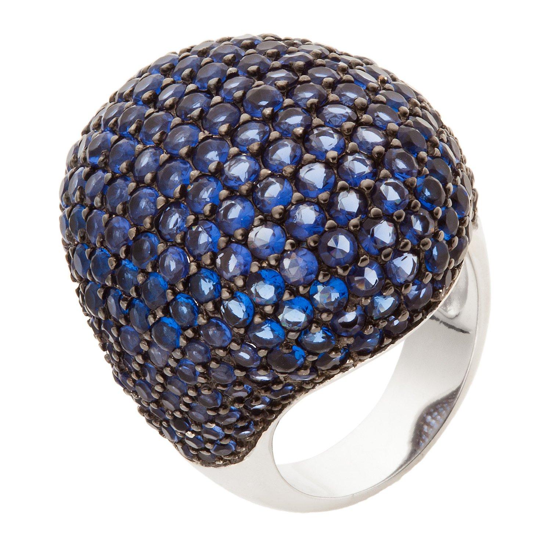 Schmuck-Pur 925/- Sterling-Silber Damen-Ring mit unzähligen saphirblauen Zirkonia als Weihnachtsgeschenk kaufen