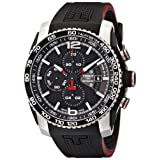 Tissot Men's T0794272705700 PRS 516 Stainless Steel Automatic Watch with Black Rubber Band (Color: Black, Tamaño: Standard)