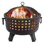 Landmann 26364 23-1/2-Inch Savannah Garden Light Fire Pit, Black (Color: Black Savannah, Tamaño: 28.5