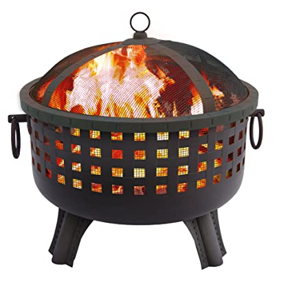 This Outdoor Fire Pit Boasts A 23 ½ Inch Diameter With A Unique Design That  Allows For A Complete 360 Degree View Of The Fire. It Is Made Of Durable  Steel ...