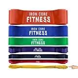Warm Up Bands for Activation and Shoulder Warm Up - Extra Light Weight Wide Leg Resistance Bands for Legs and Butt for Women and Men - Gym Equipment B