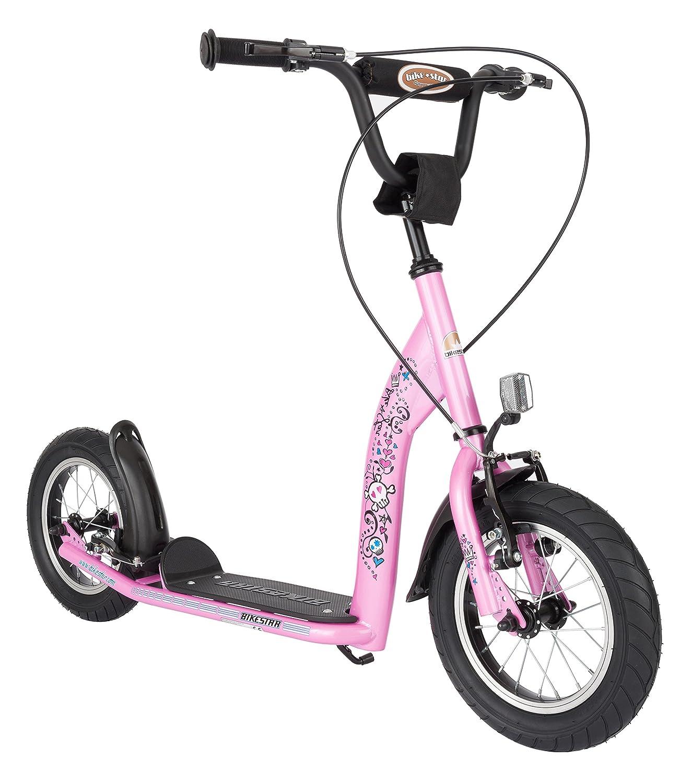 BIKESTAR® Premium Mädchentraum Kinderroller Bestseller in seiner Klasse und geeignet ab 6 Jahren ★ 12er Sport Edition ★ Glamour Pink günstig
