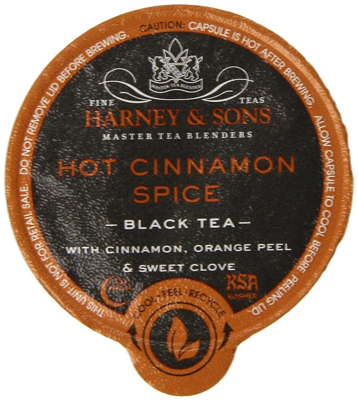 【海外直送】 ハーニー&サンズ キューリグ ホットシナモンスパイスト ブラックティー 16K-Cup Harney & Sons, Hot Cinnamon Sunset, Black Tea, 16 K-Cups