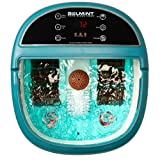 Foot Bath Massager with Heat, Foot Spa Machine Feet Soaking Tub Features Vibration, Spa Roller Massage Modes, 6 Pressure Node Rollers Stress Relieve Fatigue & Tens, Tired Feet Foot Massager with Heat (Color: White \ Relaxation Blue, Tamaño: 16.5