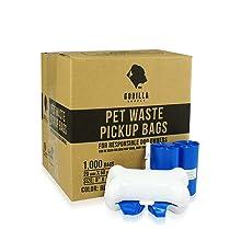 Gorilla Supply 1000 Blue Dog Pet Poop Bags
