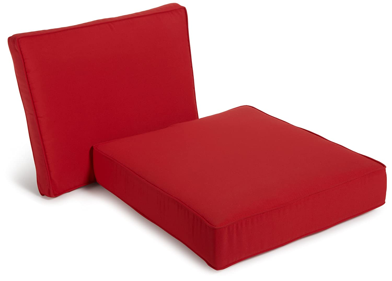 Deep Seat Chair Sunbrella Cushions W Stain Resistant Acrylic Covers Red Outdo