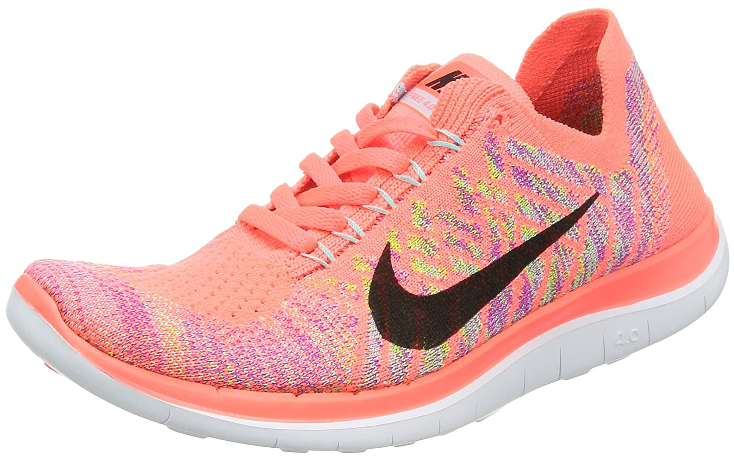 Nike Free 4.0 Flyknit Womens Running Shoes Orange New In Box original new arrival nike roshe one hyp br men s running shoes low top sneakers