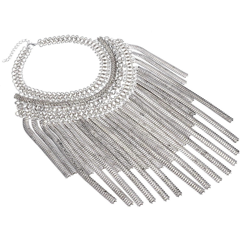 Jerollin Mode Schmuck Quaste Halskette Kette fuer Freundin Geschenk Party Dekoration (Silber) bestellen