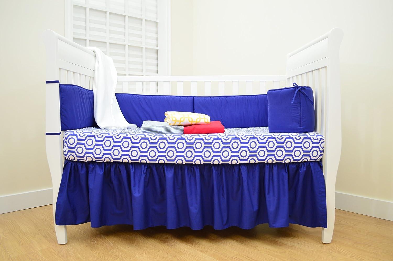 American Baby Company 100% Cotton Percale Crib Bumper, Royal