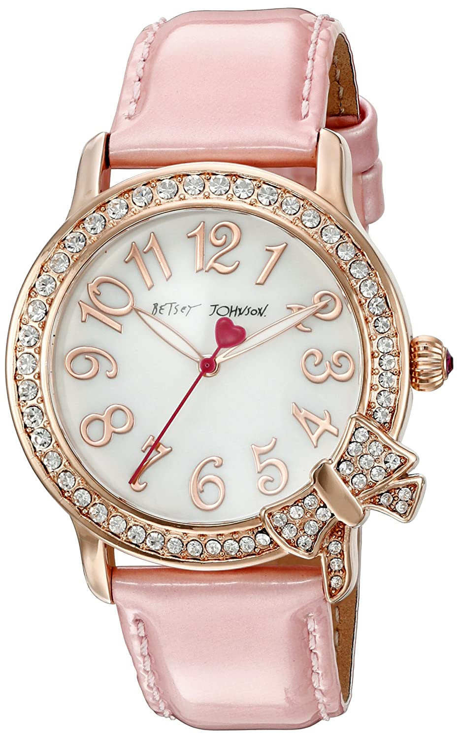 Betsey Johnson Women's BJ00562-03 Analog Display Quartz Pink Watch