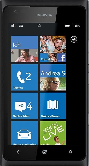 Nokia Lumia 900 Smartphone  - Ecran tactile 10,92 cm - 4,3 pouces - Appareil photo 8 mégapixels - Windows Phone Mango - Noir (Import Allemagne)