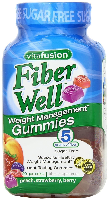 Vitafusion 无糖果蔬膳食纤维软糖90粒装,$11.59
