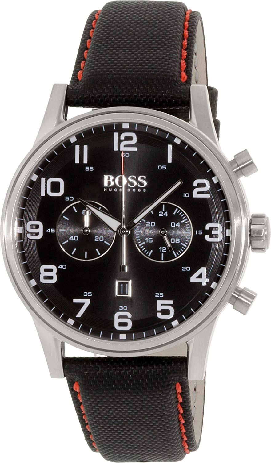 Hugo Boss Watch, Men's Chronograph Aeroliner Black Cordura® Strap 44mm 1512919 полуботинки hugo boss black casuro dark brown