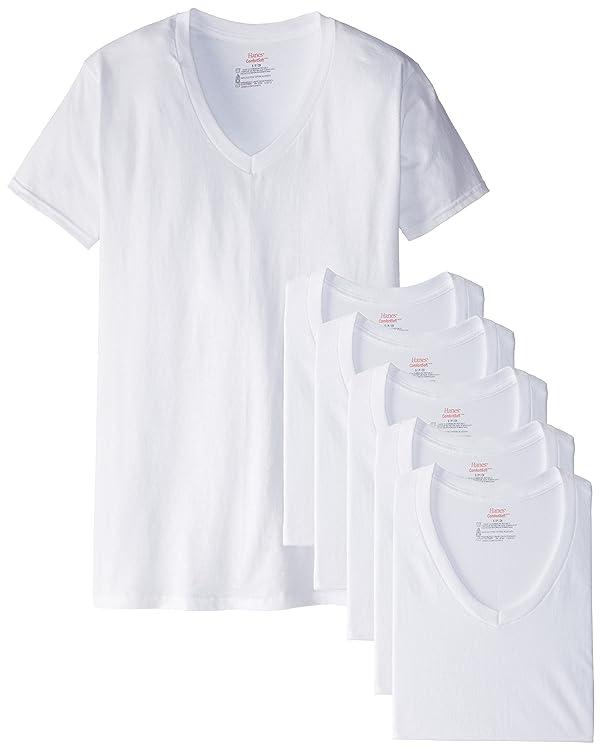 6//Pack Short sleeve Brand NEW Hanes Classic Mens White,Black Crew Neck T-Shirt