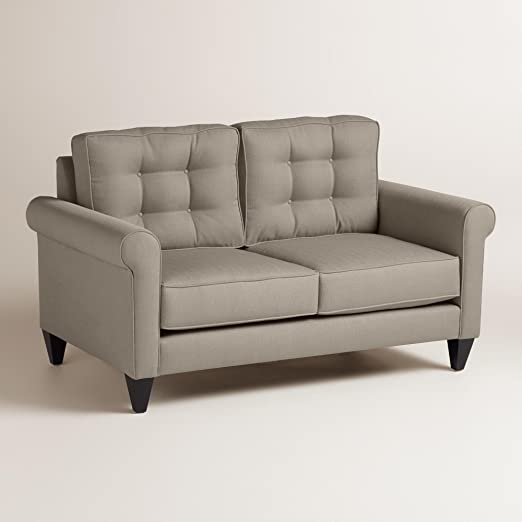 Textured Woven Bryson Upholstered Love Seat - World Market