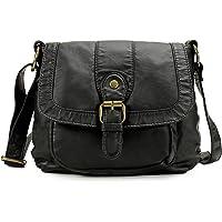 Scarleton Small Soft Washed Front Pocket Crossbody Bag - Black