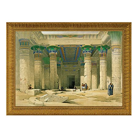 Design Toscano DA1522 Grand Portico of the Temple of Philae Canvas Replica Painting: Medium