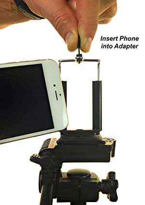 Adaptador para colocar telefonos en tripode, compatible con iPhone 6 Plus, 5S, 5C, 5, 4s, 4, Samsung Galaxy S3 S2 Note 2.