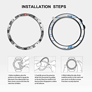 BaiHui Stainless Steel Bezel Ring Compatiable with Garmin Fenix 6X/6X Pro Watch, Bezel Ring Adhesive Cover Anti Scratch & Collision Protector for Garmin Watch Accessory (Silver - Not for 6/6 Pro) (Color: Silver, Tamaño: 6X / 6X Pro)