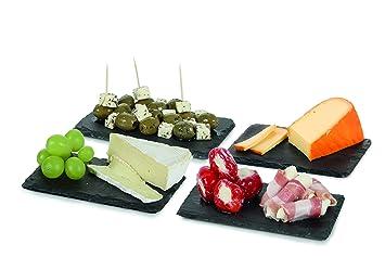 Boska 359003 monaco monaco set de 4 planches dessert for Planche ardoise cuisine