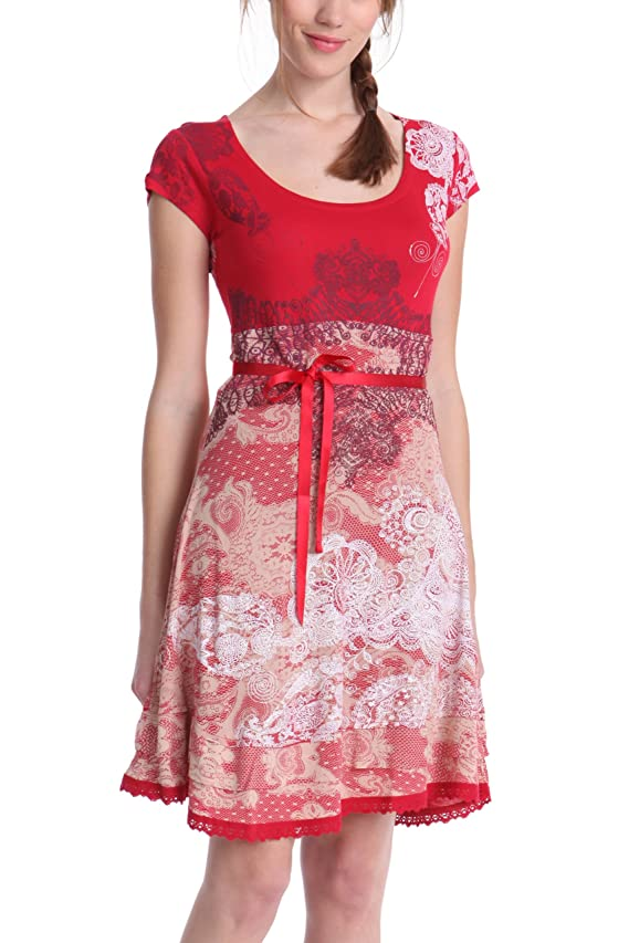 Desigual Women's short Sleeves Paris Dress