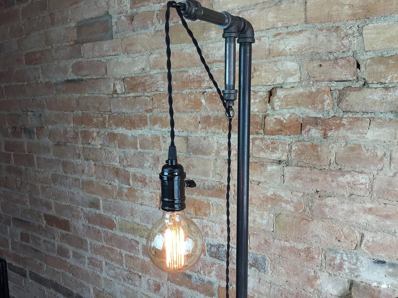 Industrial Style Floor Lamp - Pendant Edison Bulb 0