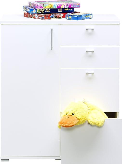 CS Schmalmöbel 90.653.12/715 Kommode 715 Rio Art Weiss (88x103x43)
