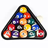 T&R sports USA Mini Pool Balls Set, 1.5-Inch Billiard Balls Set with Triangle Rack