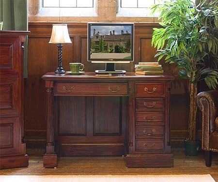 Baumhaus La Roque sur pied simple en acajou Bureau d'ordinateur