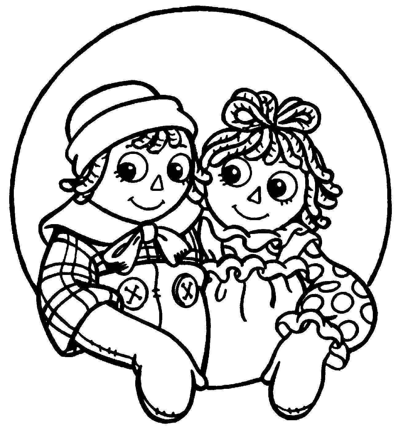 raggedy ann coloring pages - photo#19