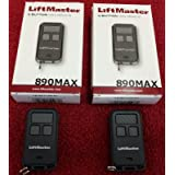 (Ship from USA) 890MAX 2PACK Liftmaster Universal 371LM 971LM Sears Craftsman Chamberlain compat /ITEM#H3NG UE-EW23D215434 (Color: Black with Grey Buttons)
