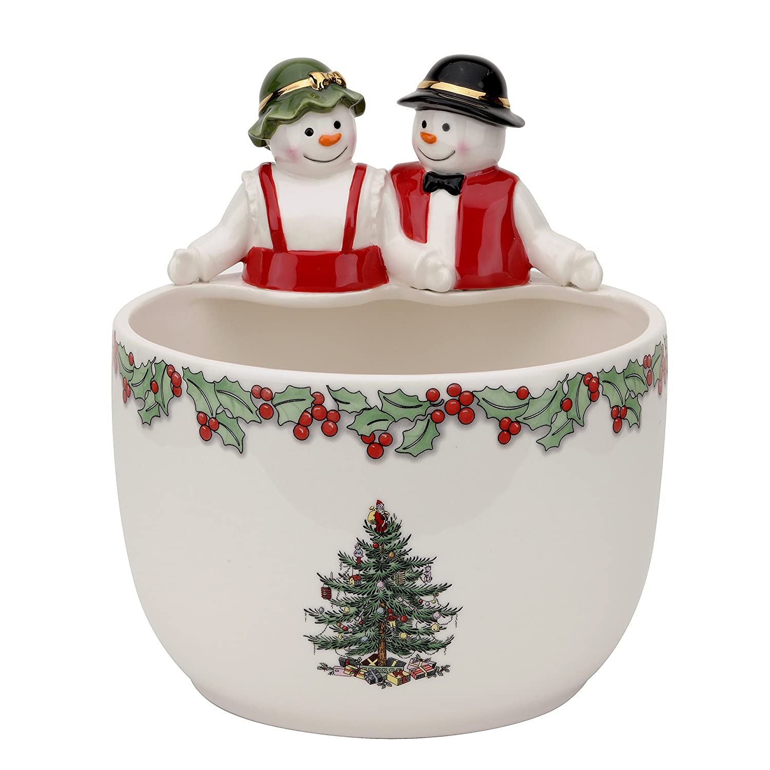 Mr and mrs christmas tree decoration - This Item Introduced In 2015 Hand Decorated The Mr And Mrs Snowman Candy Bowl Is 9 0 Traditional Christmas Tree Design On A