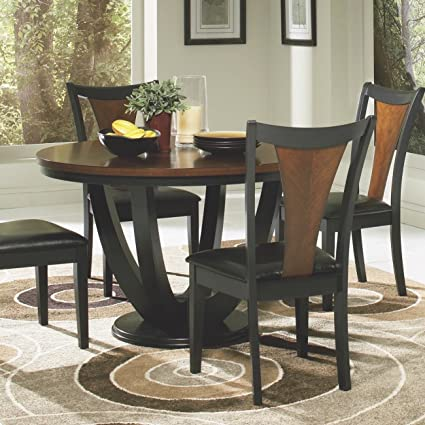 Coaster Home Furnishings 102098 Casual Dining Table, Black and Cherry