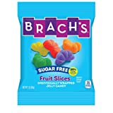 Brach's Sugar Free Fruit Slices Gummy Candy, 3 Ounce Bag, Pack of 12 (Tamaño: 3 Ounce Bag, Pack of 12)
