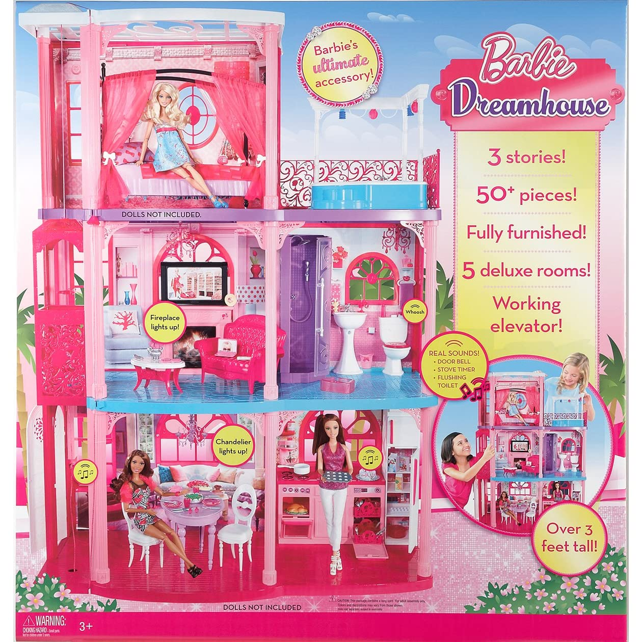 Barbie Dream House By Mattel 3 Story Dream Townhouse Brand