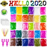 VENSEEN Rainbow Rubber Bands Bracelet Making Kit, 15000 Loom Bands in 30 Colors with 600 Clips, 6 Hooks, 2 Y Loom (Color: 30 Color)