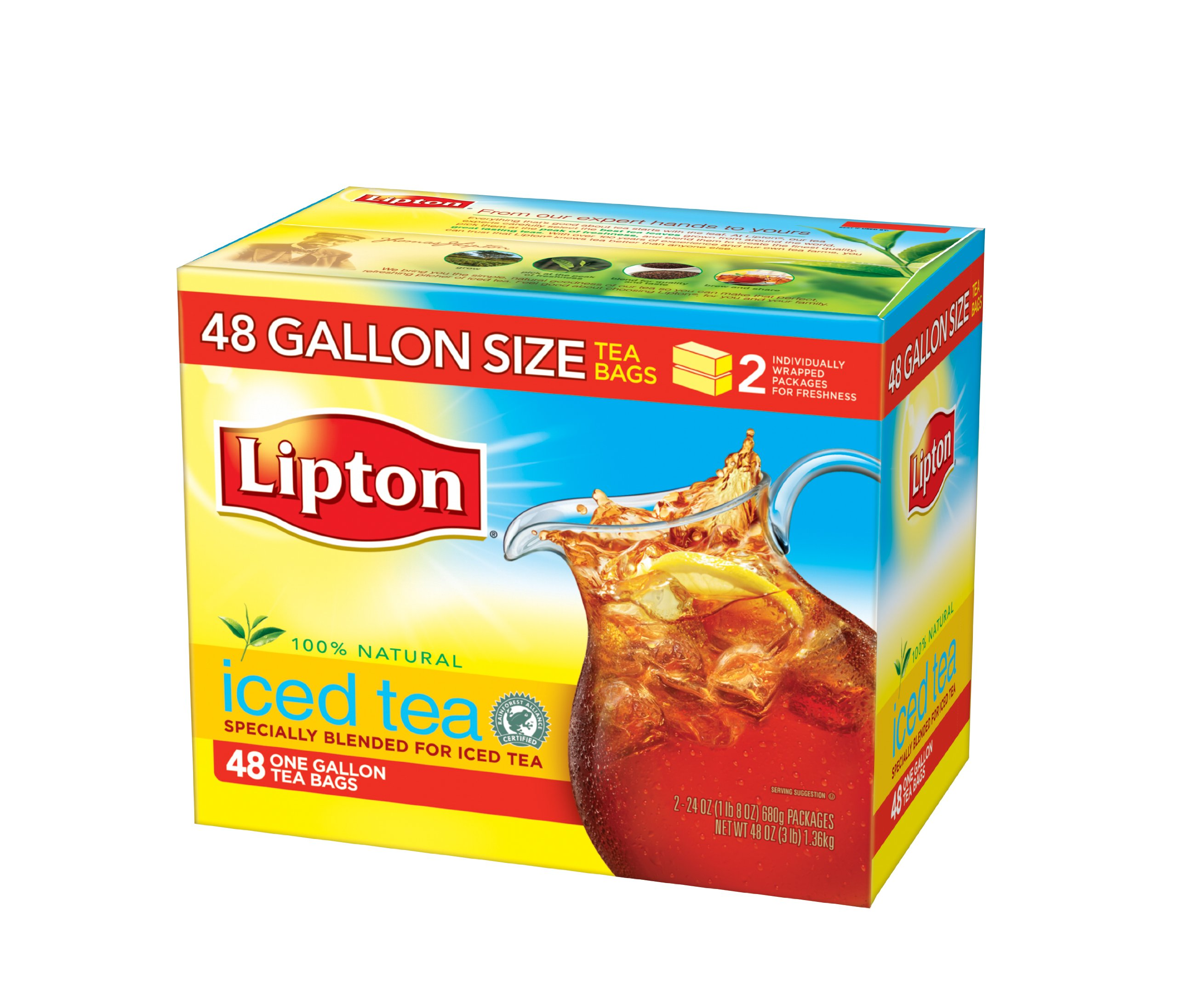 lipton black iced tea bags gallon size 48 ct pack of 48 lipton ebay. Black Bedroom Furniture Sets. Home Design Ideas