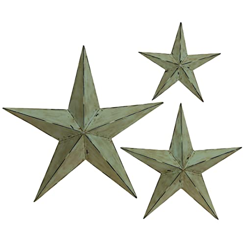 Deco 79 Metal Wall Star 24-Inch 18-Inch and 12-Inch Set of 3