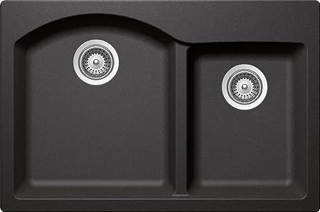 SCHOCK INPN175T088 INSPIRE Series CRISTADUR 70/30 Topmount Double Bowl Kitchen Sink, Stone