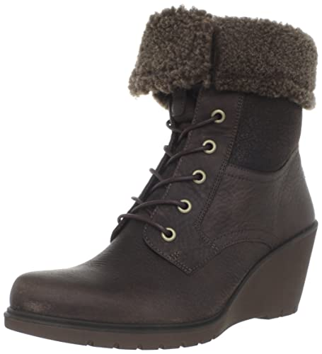 (3.1折) 爱步 ECCO Women's Adora Fur Tie Ankle Boot女士保暖真皮翻毛踝靴 $74.06
