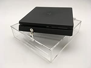 PlayStation 4 Slim Acrylic Video Game Console Security Case